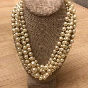 Classy J.Crew multi-strand pearl necklace